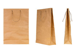 Brown paper bags Stock Photos