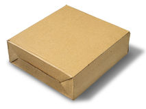 Brown paper box. On white background Stock Photo