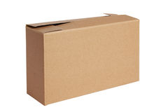 A brown paper box Royalty Free Stock Photos