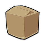 Brown Paper box cartoon vector Royalty Free Stock Photography