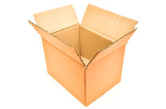 Brown paper box Stock Photo