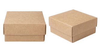 Brown paper box Stock Images