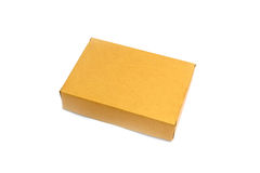 Brown paper box isolated Royalty Free Stock Photography