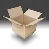 Brown paper box open Royalty Free Stock Photography