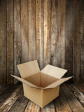 Brown paper box open Stock Image