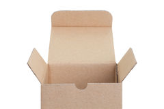 Brown paper box opened Royalty Free Stock Image