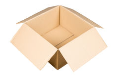 Brown paper box. Package brown paper box opened Stock Image