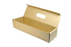 Brown paper box. Royalty Free Stock Photography