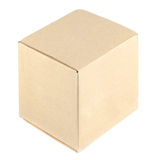 Brown paper box on white background Royalty Free Stock Photos