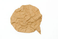 Brown paper bubble on white background Stock Photo