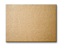 Brown paper card board isolated Stock Photography