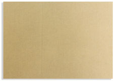 Brown paper card board isolated Royalty Free Stock Image