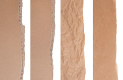Brown paper and cardboard borders Stock Photo