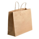 Brown paper carrier bag Stock Image