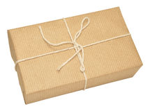 Brown Paper Covered Parcel Tied With String Stock Image