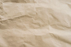 Brown paper crumpled texture and background with space. Royalty Free Stock Photography