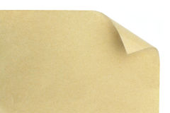 Brown paper curl Royalty Free Stock Photo