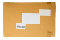 A brown paper folder. On white background stock photos
