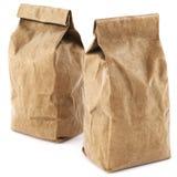 Brown paper food bag packaging Royalty Free Stock Image