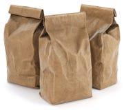 Brown paper food bag packaging Stock Photos