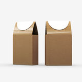 Brown paper food box packaging with clipping path. Packaging for variety food, cookie,candy,Tea, snack, or gift Stock Image