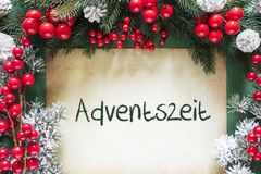 Christmas Decoration, German Adventszeit Means Advent Season royalty free stock image