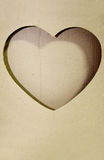 Brown paper heart shape Royalty Free Stock Image