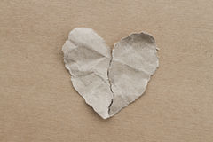 Break heart. Created by paper stock photo