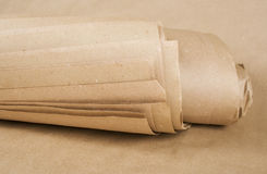 Brown paper kraft roll. Sheets of brown paper kraft roll texture Stock Photos