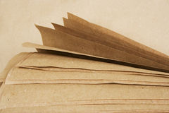 Brown paper kraft roll. Sheets of brown paper kraft roll texture Stock Images