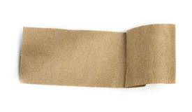 Brown paper label Stock Image