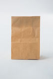 Brown paper lunch bag Stock Photo