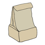 Brown paper lunch bag. Royalty Free Stock Photos