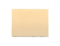 Brown paper notepad. Stock Images