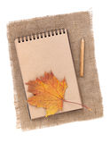 Brown paper notepad Royalty Free Stock Photos