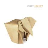 Brown paper origami elaphant Stock Image
