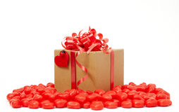 Brown paper package. With heart Royalty Free Stock Photo