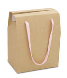 Brown paper package bag Royalty Free Stock Photo
