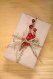 Brown paper package tied with string Royalty Free Stock Photography