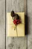Brown paper packages tied up with string Stock Images