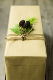 Brown paper packages tied up with string Stock Image