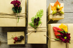 Free Brown Paper Packages Tied Up With String Royalty Free Stock Photo - 46124255