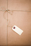 Brown paper parcel. With copy space Stock Photos