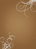 Brown paper parchment white swirls. A brown paper parchment with big white swirls in corners Stock Photos
