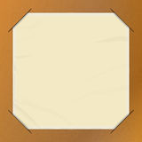 Brown paper picture holder copy space Stock Images