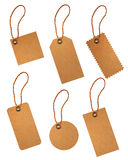 Brown paper price tags isolated Royalty Free Stock Photography