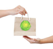 Brown paper recycle bag Royalty Free Stock Photos