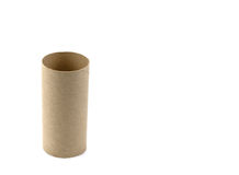 Brown paper roll isolated on white background.  Stock Photography