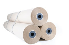 Brown paper rolls Royalty Free Stock Images