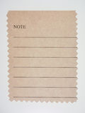 Brown paper sample Royalty Free Stock Photography
